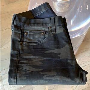 J Brand TYLER Jeans, Navy Camo, 30x34 USA Made